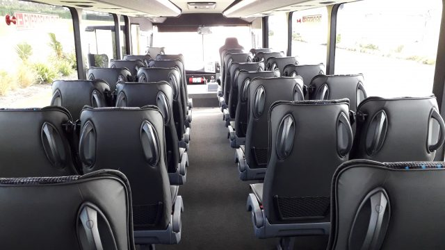 Interior seating rear view