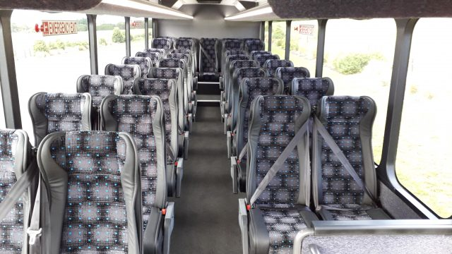 Interior seating from front